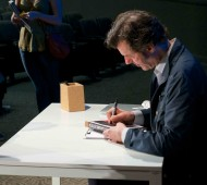 Post lecture Sagmeister sat and signed copies of his book that were purchased that night.