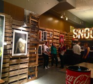Jason Scalfano presents his illustrations at Le Snoot art gallery Friday evening