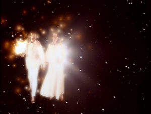 Wasn't there an episode of Doctor Who that taught us that floating space entities of light are bad news?