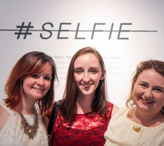 #SELFIE displayed work by Ashley Comer, Mikaela Hawk, and Madison Rich.