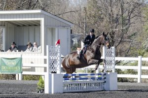 Meredith Denny rides Peia in the medal phase