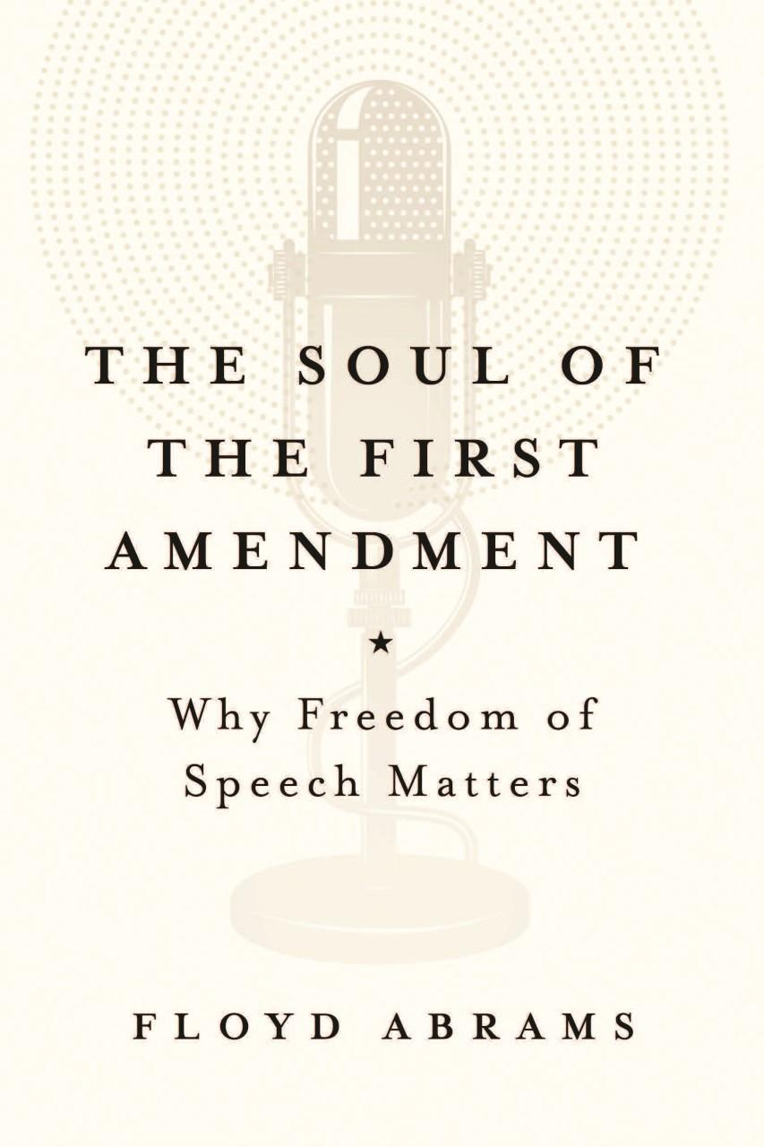 a history of the first amendment The first amendment, remember, applies only as a protection against the government, not against private employers, not against friends, or enemies, or this, or that it is a protection against the government.